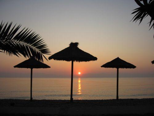 corfu holiday sunset