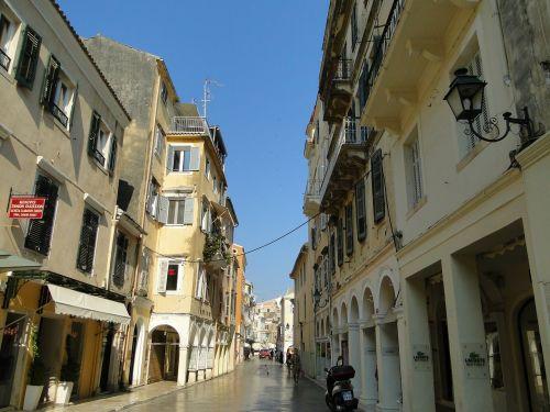 corfu old town facade