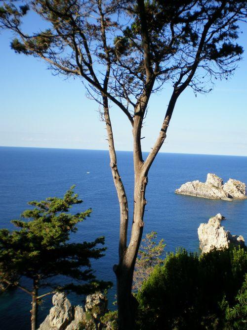 corfu sea coast