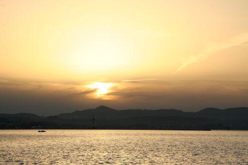 corfu greece sunset