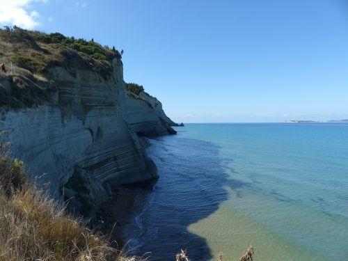 corfu perulades cliff