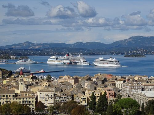 corfu city sea