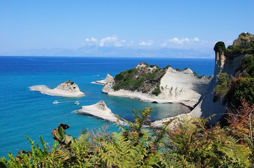 corfu  the cliffs  the coast