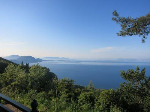 corfu greece blue