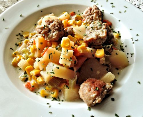 corn chowder sausage potatoes