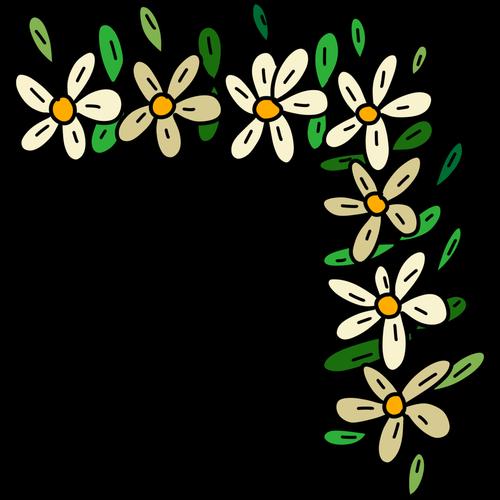 corner flowers  daisies  garland