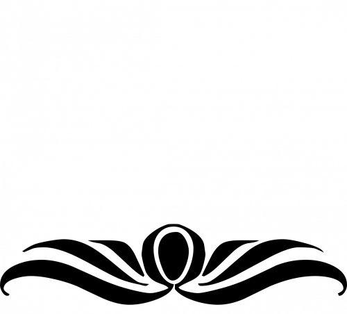kampas, dekoruoti, dekoratyvinis, juoda, siluetas, balta, fonas, kreivė, gėlių, kampai