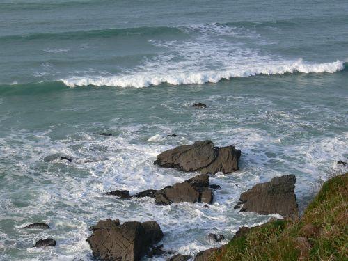 cornish sea landscape