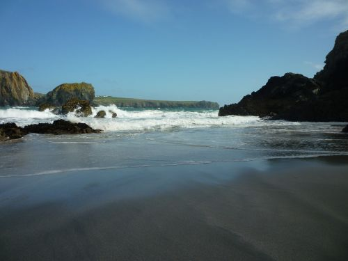 cornish coast seaside rocky