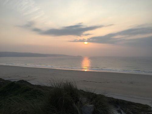 cornwall sunset beach