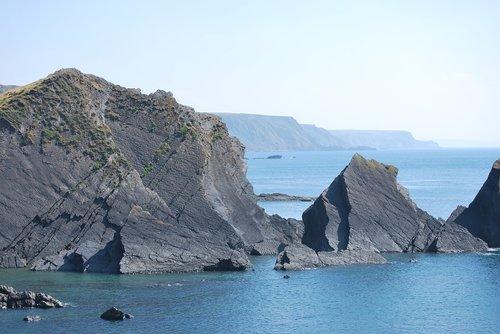 cornwall  cliffs  sea