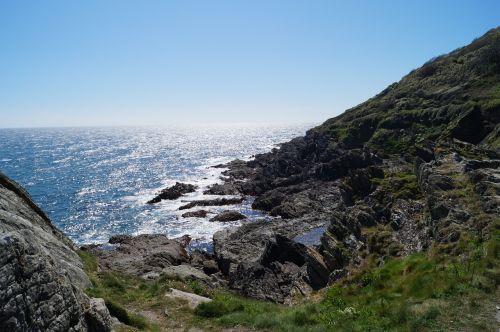 cornwall rock sea