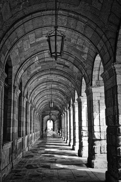 koridorius,arcade,arkos,praėjimas,perspektyva,architektūra,akmuo,viduramžių,arka,architektūra