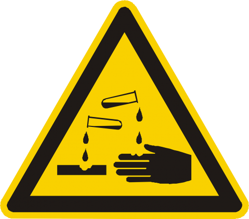 corrosive acid warning