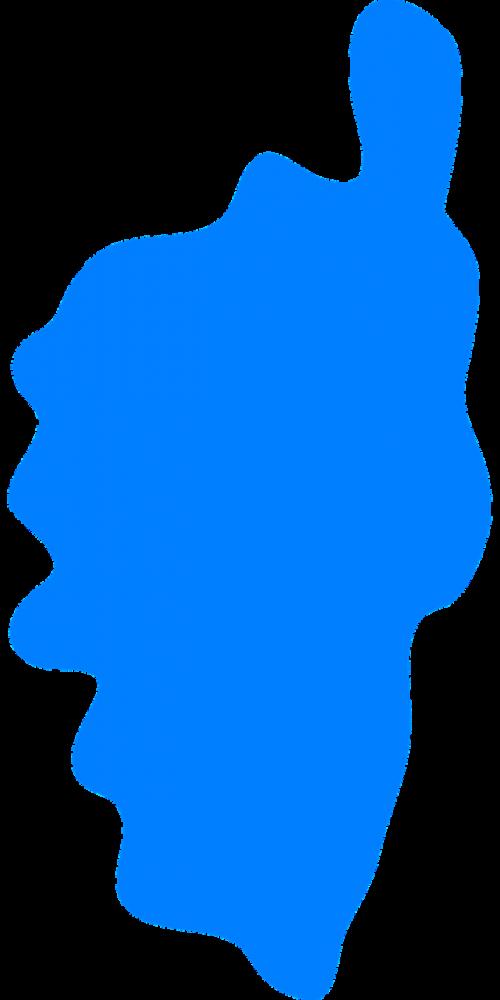 corsica island silhouette