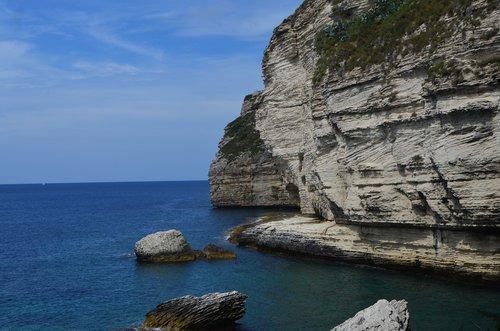 corsica  bonifacio  cliffs