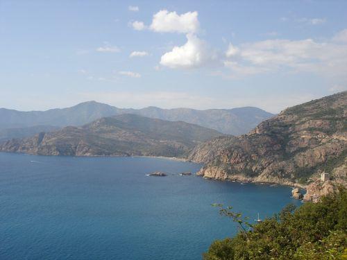 corsica landscape sea