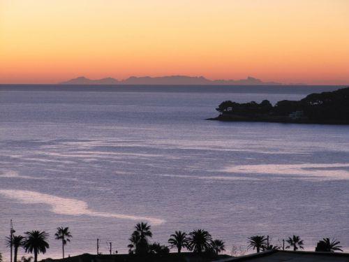 corsican sunrise côte d'azur