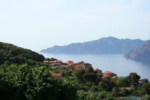 corsican landscape nature
