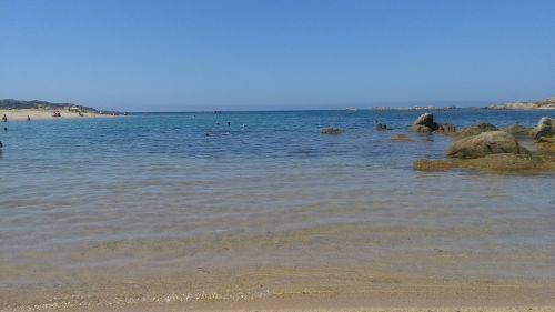 corsican beach sea