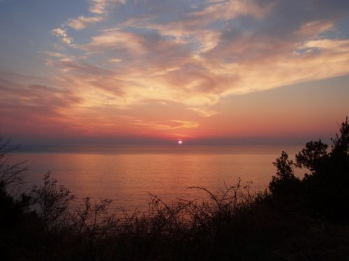 corsican sunset sun