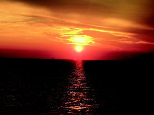 corsican sunset ocean