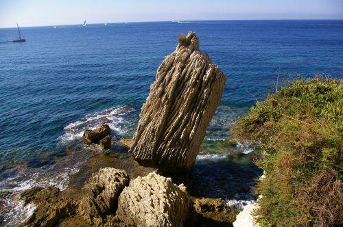 korsikietis, Rokas, jūra, kraštovaizdis, gamta, pierre, vanduo, ramus, bangos, mėlynas, dangus, pusė, upelis, paliktas, skaidrus, turkis, žygiai, skaidrus vanduo, papludimys, Viduržemio jūra