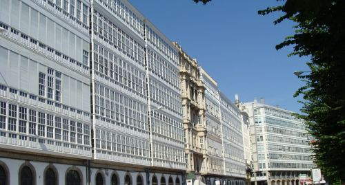 coruna spain buildings
