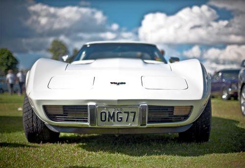 corvette racing car roadster