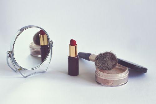 cosmetics powder lipstick