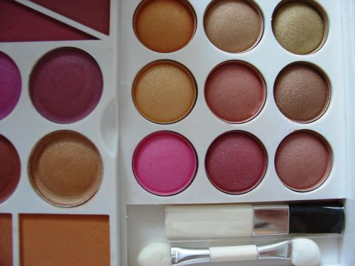 cosmetics shadows colorful