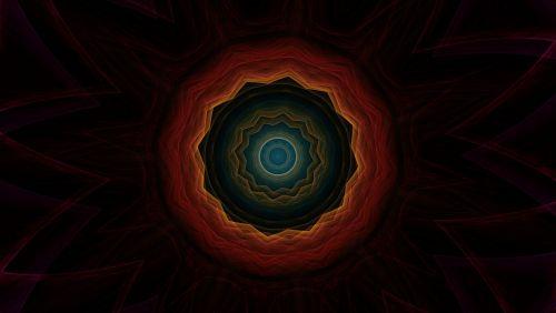 cosmic eye kaleidoscope art pattern