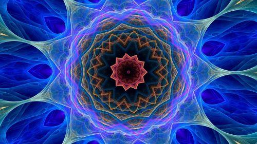 cosmic flower kaleidoscope art pattern