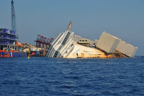 costa concordia sea blue