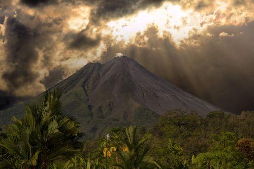 costa rica volcano landscape