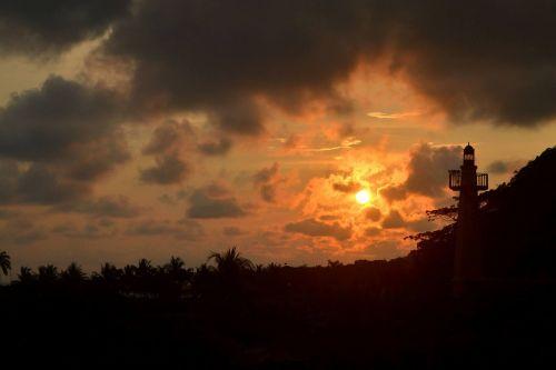 costa rica sunset sky