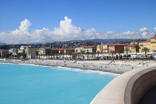 cote d'azur  blue sea  nice