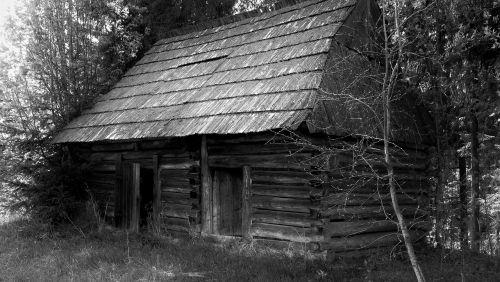 cottage hut wooden cottage