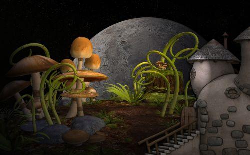 cottage plants mushrooms