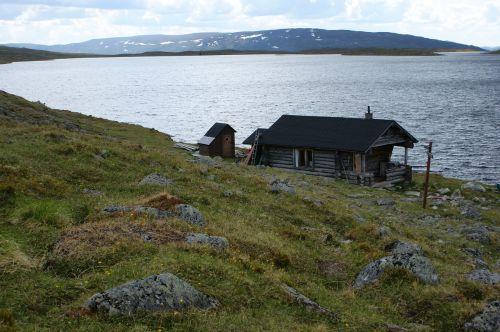 cottage lake the lapland