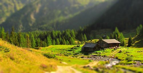 cottage idyll alps