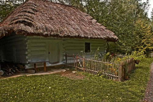 cottage old wooden house