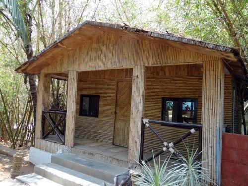 cottage hut bamboo