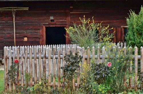 cottage garden garden fence