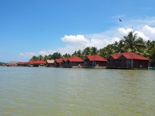 cottages backwaters river