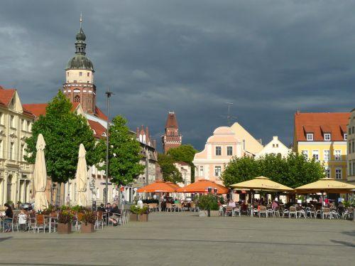 cottbus market square brandenburg