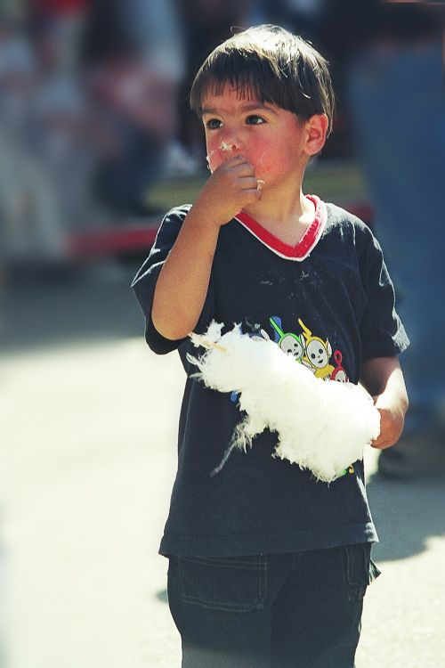 cotton candy boy sweetness