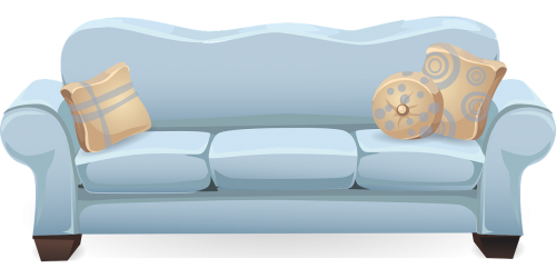 couch sofa blue