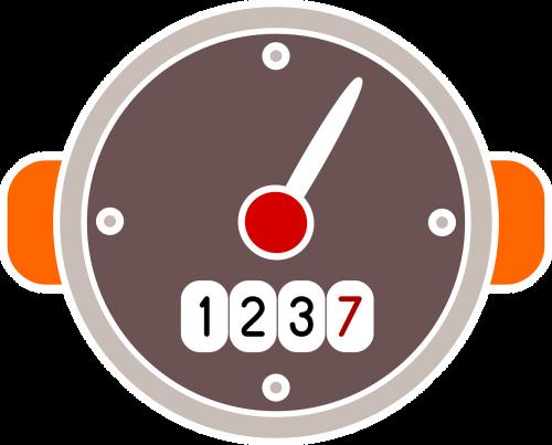 counter speed indicator speedometer