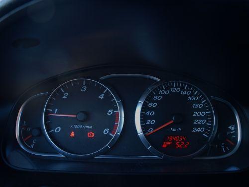 counter clocks car